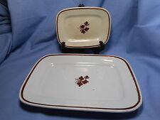Royal Ironstone China  2 Small Platters / Trays  Alcock/Meakin  England Tea Leaf