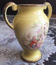 Vintage 1950s Gold Gilded Double Handled Oldcourt Ware English Porcelain Vase