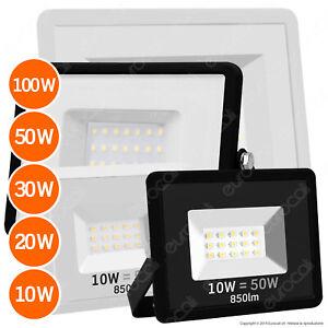 FARO LED 10W 20W 30W 50W 100W Faretto Professionale da Esterno Sottile Slim IP65