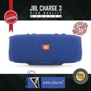 JBL Charge 3 Waterproof Portable Bluetooth Speaker Wireless Bass-Blue New