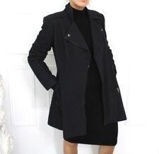 Warehouse Charcoal Wool Blend Zip Up Jacket Blogger Coat 12