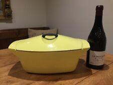 Vintage Le Creuset Raymond Loewy Lidded Casserole Dish Cast Iron 5.5ltr