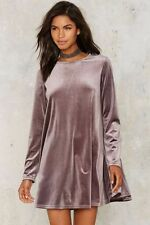 nasty gal Glamorous Cassie Velvet Mini Dress medium mauve velvet new with tags