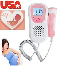 USA SHIP  LCD Pocket Prenatal Baby Sound Fetal Doppler 3M Probe Good