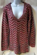 Motherhood Maternity Sweater Charcoal & Red  Sz.M  *B6