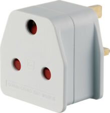 Go Travel South African Visitor to UK Earthed 3 Pin Adaptor - (Adapter Ref 023)