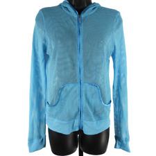 Victoria's Secret Blue Mesh Zip Up Hooded Jacket Size Large