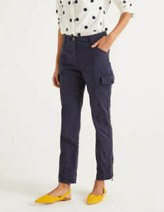 BODEN Damen Walberswick Cargo Trousers-Navy UK 12R 38