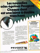 PUBLICITE ADVERTISING 085  1978  PEUGEOT OUTILLAGE  2   scies égoine