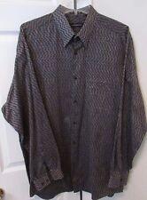 Jhane Barnes Mens Long Sleeve Shirt XL EUC Beautiful Pattern