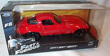 FAST & FURIOUS 8 Lettys Chevy Corvette 1/24 SCALE DIECAST OPENING FEATURES JADA