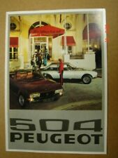 PEUGEOT  504 Coupé - Cabriolet  brochure / Prospekt  1976.