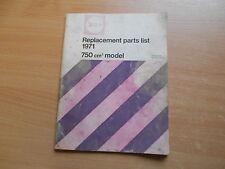 Parts List catalogue / Teile Ersatzteil Katalog  750 er BSA Rocket 3 (A75) 1971