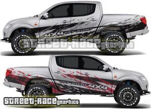 Mitsubishi L200 065 grunge mud splatter stickers decals graphics 4x4 off-road