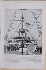 1896 BOER WAR ERA METHODS OF SIGNALLING BY DAY IN THE NAVY BATTLESHIP