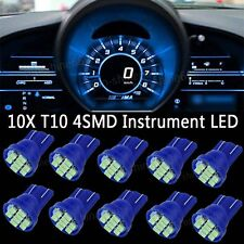 Ice Blue LED 194 Wedge Speedo Dash Gauge Instrument Panel Light Bulb For Chevy
