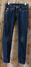 "True Religion Blue Skinny Jeans Waist 24"" #603875 Made in USA Cotton/Spandex"
