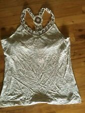 NWT Banana Republic Women's Boho  Crochet beaded Earth tone Tank top Sz Petite L