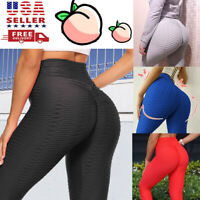 Women Push Up Leggings Yoga Pants Anti Cellulite Sports Ruched Scrunch Booty