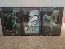 STAR WARS CHROMART Trilogy Key Art SET SW, ESB, ROTJ /5000 framed limited