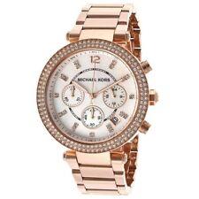 Horloge Femme MICHAEL KORS MK5491 Poignet Sangle Rose Chronographe Quartz Mk