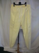 """Ladies Trousers St.Michael UK 12, waist 26"""", cropped pull-on, yellow cotton 0192"""
