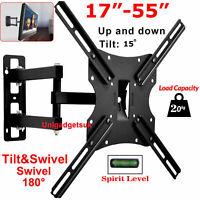 Swivel Tilt TV Wall Mount Bracket For 17 22 26 32 40 42 46 48 50 52 55 Inch LCD