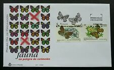 Spain Butterflies 2000 Insect Butterfly Flower Flora Fauna (stamp FDC)