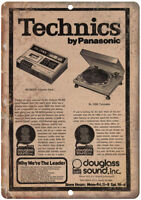 "Technics Turntable By Panasonic Vintage Ad 10"" x 7"" Reproduction Metal Sign D108"