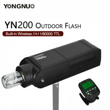 Newest YONGNUO YN200 TTL HSS 200W With Battery Outdoor Flash for Canon Nikon