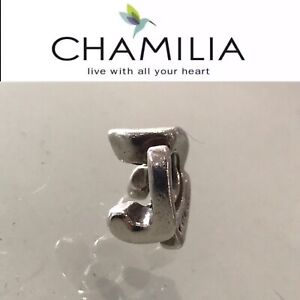 Chamilia Sterling Silver Charm Bead Initial J