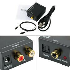 1 ensemble adaptateur de convertisseur audio coaxial numérique à analogique avec