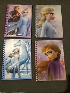 Lot of 4 Disney FROZEN 2 Spiral Notebook 50 Sheet Journal Wide Ruled 7x5
