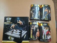 All Elite Wrestling Unrivaled Series Set of Four Figures and Ring In-Hand AEW