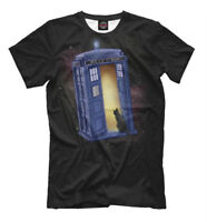 Doctor Who printed T-Shirt - Tardis and Cat tee art