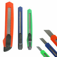 3 Retractable Utility Knife Box Cutter Snap Off Lock Razor Blade Camping Tool !!