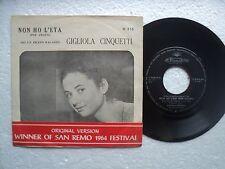 Gigliola Cinquetti - No Ho L'eta - Ultra rare & unknown HONG KONG 45 P/S