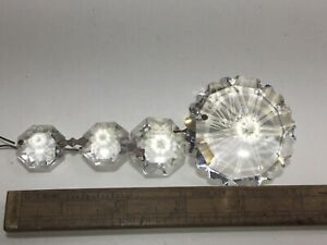 Vintage Old  Crystal LARGE Very Rare Collectible chandelier lighting craft