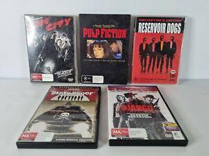 5 Quentin Tarantino movies, Django, Pulp Fiction, Death Proof, Reservoir Dogs