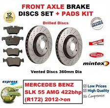Pour Mercedes Benz SLK 55 AMG 422bhp R172 2012- > Frein Avant Patins + Perforés