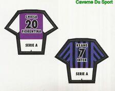 CHIESA FIORENTINA KEANE INTER FIGURINE STICKER CALCIO MERLIN 2000-2001