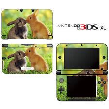 Vinyl Skin Decal Cover for Nintendo 3DS XL LL - Honey Bunny Kisses