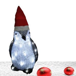 Advendsschmuck Weihnachtsschmuck LED Pinguin Weihnachtsdeko Außen Acrylfigur 230