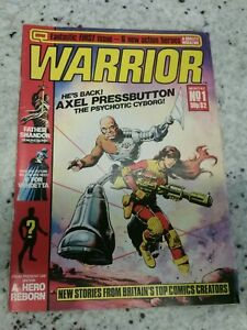 WARRIOR MAGAZINE 1 First Appearance of V FOR VENDETTA & Miracle Man March 1982