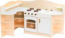 Large Wooden Play Kitchen Children's Role Play Pretend Corner Set Toy