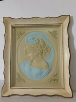 Vintage Turner Wall Accessory West East Wind Lady Female Cameo Framed Portraits
