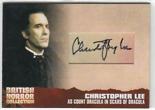 BRITISH HORROR COLLECTION SERIES 1 CHRISTOPHER LEE (DRACULA) CUT AUTOGRAPH CL19