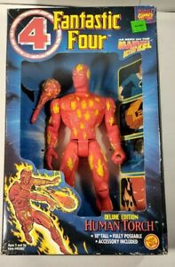 ToyBiz Marvel Action Hour Fantastic Four Human Torch Deluxe Edition SEALED 1994