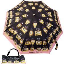 MOSCHINO BOUTIQUE umbrella with bag perfume print black 7001