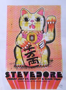 "Stevedore poster - Denny Schmickle - 18x24"" 1st Ed Hand Screened(Maneki Neko)"